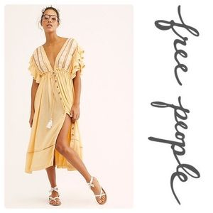Free People Bali Will Wait for You Midi Dress SM